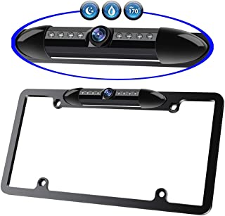 $23 » BIKON License Plate Rear View Backup Camera with Night Vision 170 Degree Viewing Angle Reverse Parking Back Camera 8 IR LE...