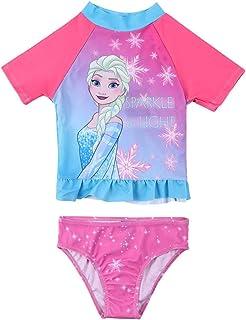 Wnitefg Girls Princess 2-Piece Rash Guard Swimwear Swimsuit Set 3-7Y