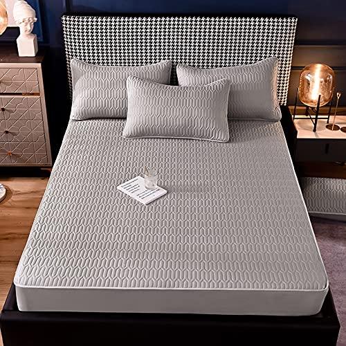 Haiba - Lenzuolo con angoli in cotone per letto king size, 100% cotone, 100% cotone, 100 x 200 cm