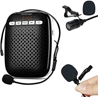 WinBridge Voice Amplifier Portable Rechargeable Wired Headset Microphone Lapel Mic for Teachers Speaking to Small Groups 10W Long Battery Life - coolthings.us