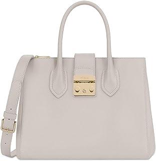 Furla Metropolis Ladies Medium White Perla Leather Tote 978104