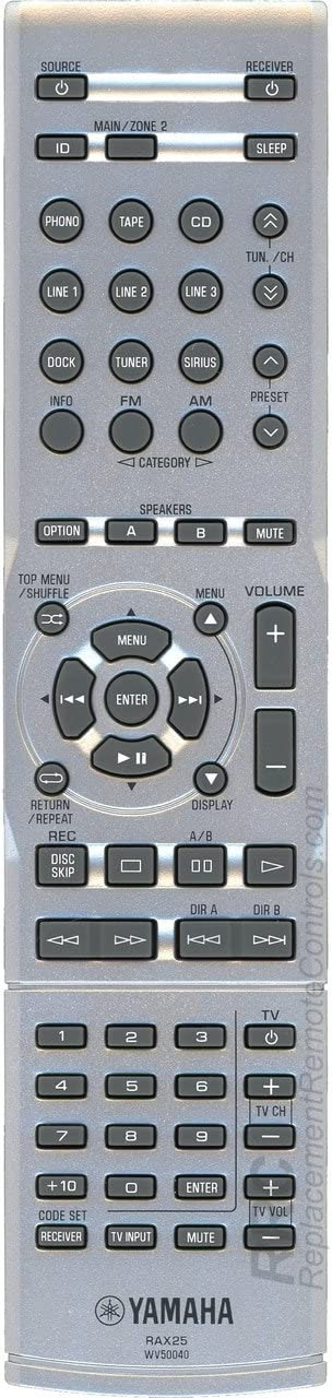 Yamaha RAX25 Audio Rapid rise Video Receiver R-S500 Control for Remote OFFicial R-S