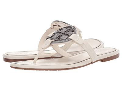 Tory Burch Metal Miller Embellished Sandal (Bleach) Women