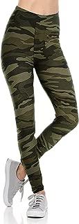 Jack David Womens Plus Size Army Camouflage Ultra Soft Yoga Pants Comfy Workout Leggings 1X-2X-3X Military/Animal Print