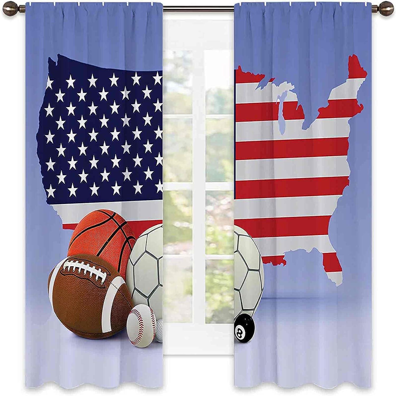 Americana Decor Collection Heat Curtain Insulation Surprise price Sale price Map American