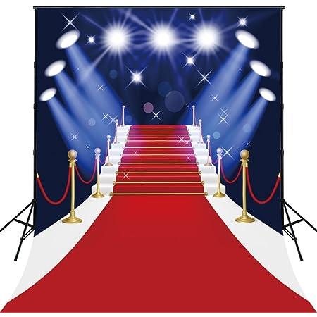 150x200cm Lavable Coton Polyester Tapis Rouge Avec Spotlight éVéNement Photographie Toile De Fond Pour La Maison Hollywood Party Photos D-4123