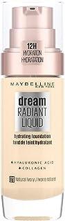 Maybelline New York Dream Radiant Liquid - 1 Natural Ivory - Foundation Geschikt voor de Droge Huid met Hyaluronzuur 30 m...
