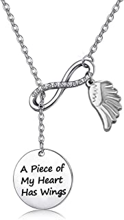 POTIY Sympathy Gift Butterfly Memorial Gifts Keychain A Piece of My Heart Has Wings Keychain with Butterfly Charm Remembrance Gift for Loss of a Loved One