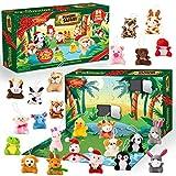 JOYIN 2021 Mini Animal Plush Advent Calendar Christmas 24 Days Countdown Advent Calendar with 24 Animal Plush Toys