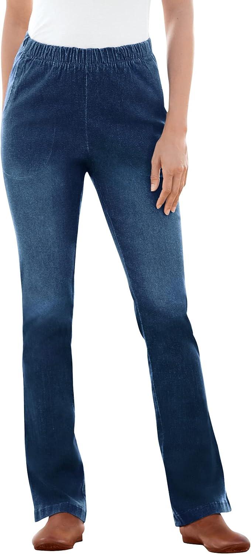 Woman Within Women's Plus Size Bootcut Fineline Jean