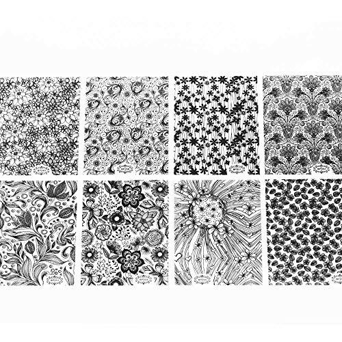 MEIYY Décoration des ongles 8Pcs Plein De Décalques 3D Or Et Argent Autocollant De Terrain En Trois Dimensions Doré/Argent/Noir/Blanc