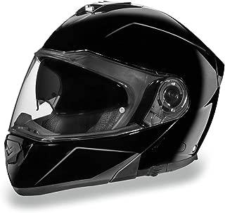 Daytona Helmets Motorcycle Modular Full Face Helmet Glide- Hi-Gloss Black 100% DOT Approved