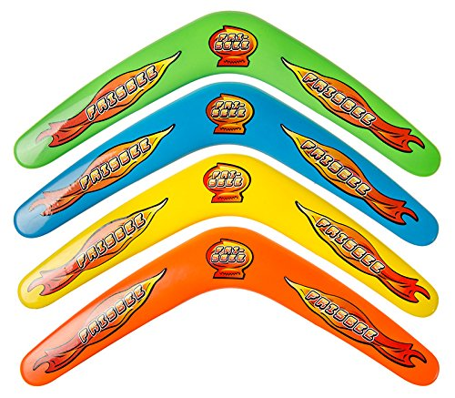 diverse 4 x Bumerang Boomerang 30cm 4 Farben Wurfspiel Fangspiel Strand Tombola Spiele