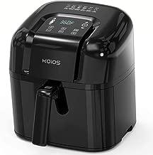 KOIOS 6.8-Quart Large Air Fryer/ Dehydrator(160 Recipes), 24 Presets in Total, 1800-Watt Electric Hot Air Fryers Oven, 4 Customized Functions, Air Fry, Roast, Reheat, Dehydrate, 2-Year Warranty, 105°F–400°F, Nonstick Basket, Ergonomic Digital Display, Oil-Free Cooker, ETL Certified