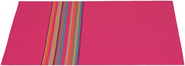 LinenTablecloth Rainbow Striped Placemat Fuchsia