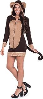 Tipsy Elves Cute Women's Monkey Dress w/Pockets - Female Monkey Halloween Costume Dress