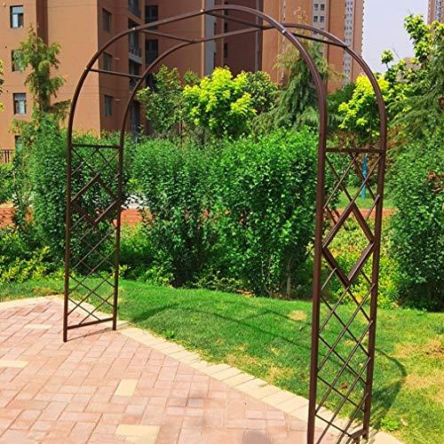 S-AIM Enrejado de Arco de jardín de Flores para Exteriores, cenador de jardín de Hierro Duradero para Plantas trepadoras, decoración de Bodas, fácil de Montar