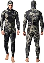 Nataly Osmann Camo Spearfishing Wetsuits Men 3mm / 1.5mm النيوبرين 2-Piece Hooded Super Stretch Diving Suit