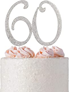60 wedding anniversary cake topper