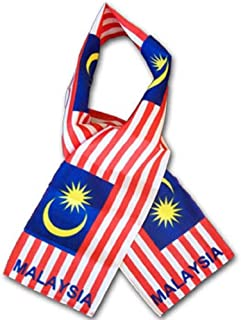 K's Novelties Set of 12 Malaysia Country Lightweight Flag Printed Knitted Style Scarf 8