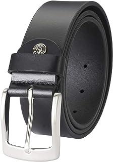LINDENMANN Mens leather belt/Mens belt, full grain leather belt XXL, black, Größe/Size:100