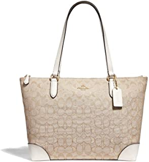 COACH Signature PVC Zip Tote
