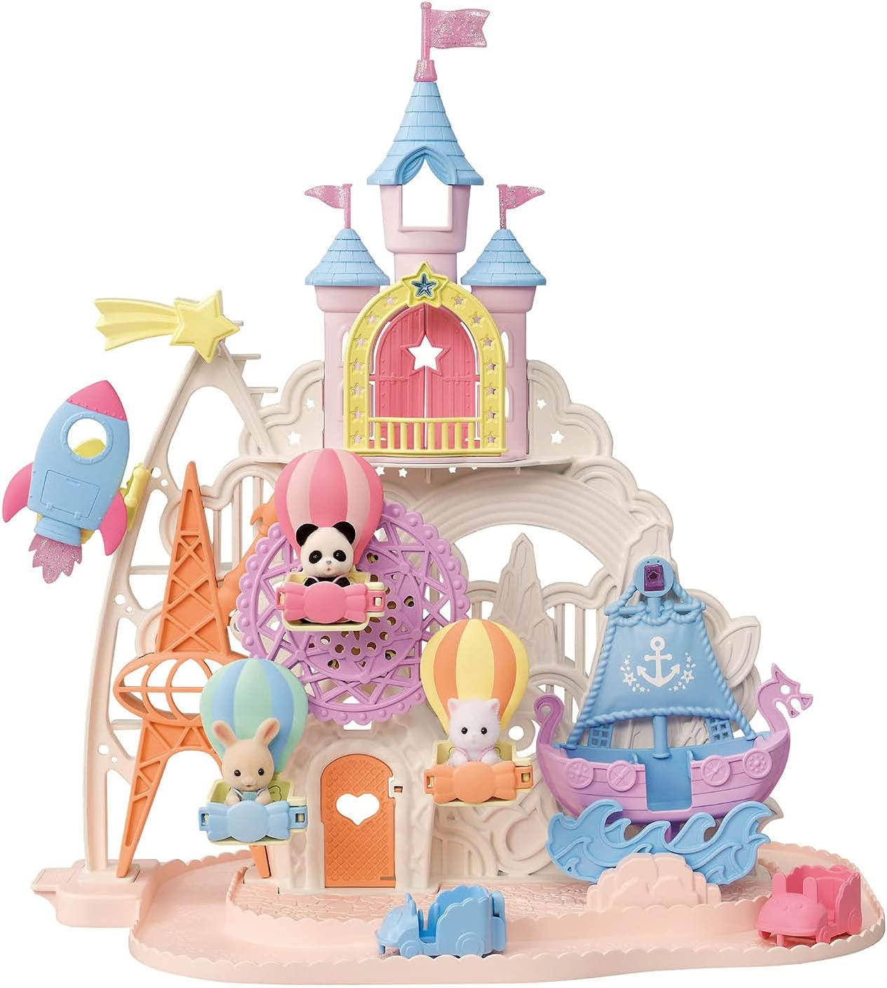 Calico Calico Critters Baby Amusement Park, Dollhouse Playset with 3 Figures Included