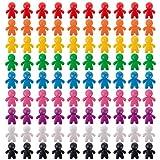 Peeples 100個 - 24mm プラスチック製ゲームピーストークン 10色 - 卓上ゲームコンポーネント交換 - ファンタジー戦略ゲームアクセサリー カルカソンヌ サーカス ドス リオス アグリコラなどのアップグレードに
