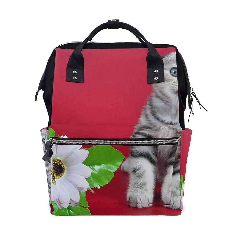 Cute Lovely Cat Flower School Backpack Large Capacity Mummy Bags Laptop Handbag Casual Travel Rucksack Satchel For Women Men Adult Teen Children