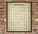 Rac76yd Braille Alphet - Póster educativo para pared, diseño de alfabeto Braille