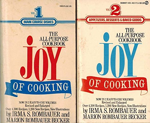 THE ALL-PURPOSE COOKBOOK JOY OF COOKING 1 AND 2 VOLUME SET IRMA S. ROMBAUER AND MARION ROMBAUER BECKER. 1964 EDITIONS