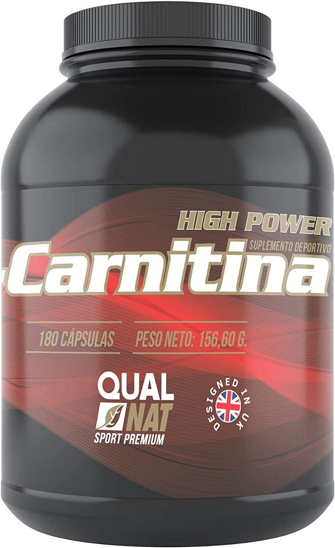 L-Carnitina Pura   Mejora la Musculatura   Suplemento deportivo   180 Cápsulas- Qualnat