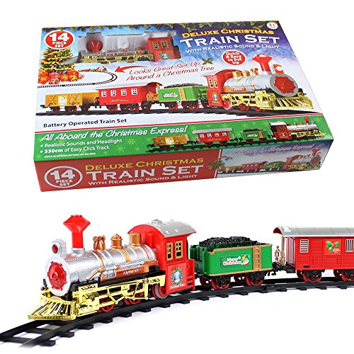 CHRISTMAS EXPRESS Holiday Festive Train Set Toys Track...