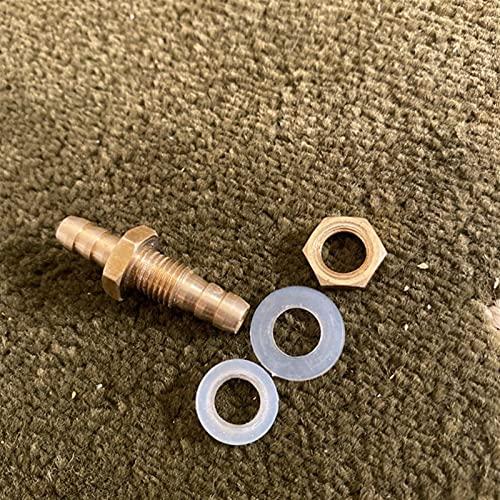 Zmaoyun-Tubos de latón Conector del acoplador del acoplador del acoplador del acoplador del tubo del tubo del tubo del tubo del tubo de púas de 4 mm-25mm. Material de latón duradero ( Size : 8mm OD )