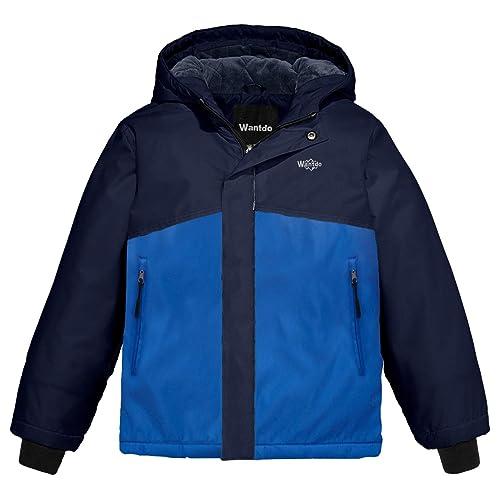 150f428cffc2 Wantdo Boy s Spring Camping Rain Jacket Hooded Rainwear with Reflective  Stripe Waterproof Ski Coat