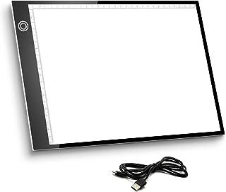 Mesa de Luz A4, Caja de Luz Portátil con USB, Control Tá