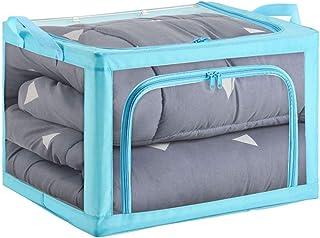 Boîte de Rangement vêtement saisonnier sous lit Stockage Transparent Tissu Boîte De Rangement Ménage Assaisonnement Vêteme...