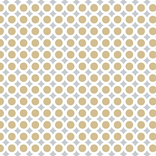 Golden Wedding Anniversary Flat Gift Wrapping Paper - 24