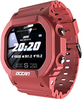 LOKMAT Multi Function Smart Watch & Fitness Tracker Ocean Edition (Red)