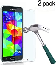 TANTEK YYY27 HD-Clear Tempered Glass Screen Protector for Samsung Galaxy S5-2 Piece