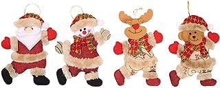 AIVUH 4Pcs Christmas Ornaments Gift Santa Claus Snowman Tree Toy Doll Hang Decorations