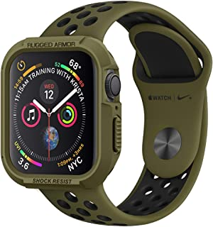 Spigen Apple Watch 44mm Series 4 Rugged Armor Cover/Case - Olive Green