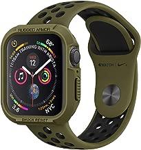 Spigen Apple Watch Funda, Rugged Armor diseñado para Apple Watch 44mm Series 5 / Series 4 Case - Olive Green