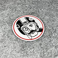 HYYT ファッションの喫煙紳士ステッカーオートバイ自転車車のスタイリングデカールのためのデカールのためのデカールのためのカフェレーサー9cm (Color Name : C, Size : 9cm)