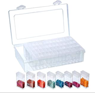 64 Slots Transparent Painting Storage Box Plastic Beads Storage Container Box Diamond Painting Accessory Storage Box for D...