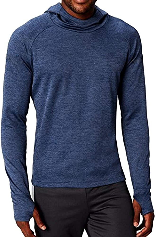 MODOQO Shirt for Men,Loose Fit Long Sleeve Solid Color Breathable Yoga Hooded Tops