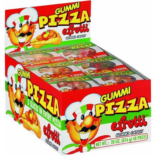 E Frutti Gummi Candy Pizza - 48'S, .6-Ounce (Pack of 48)
