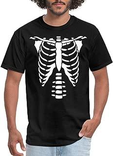 Spreadshirt Skeleton Ribcage Costume Mardi Gras Men's T-Shirt