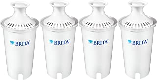 Brita Standard Pitcher Replacement Filters, 4 Count, White
