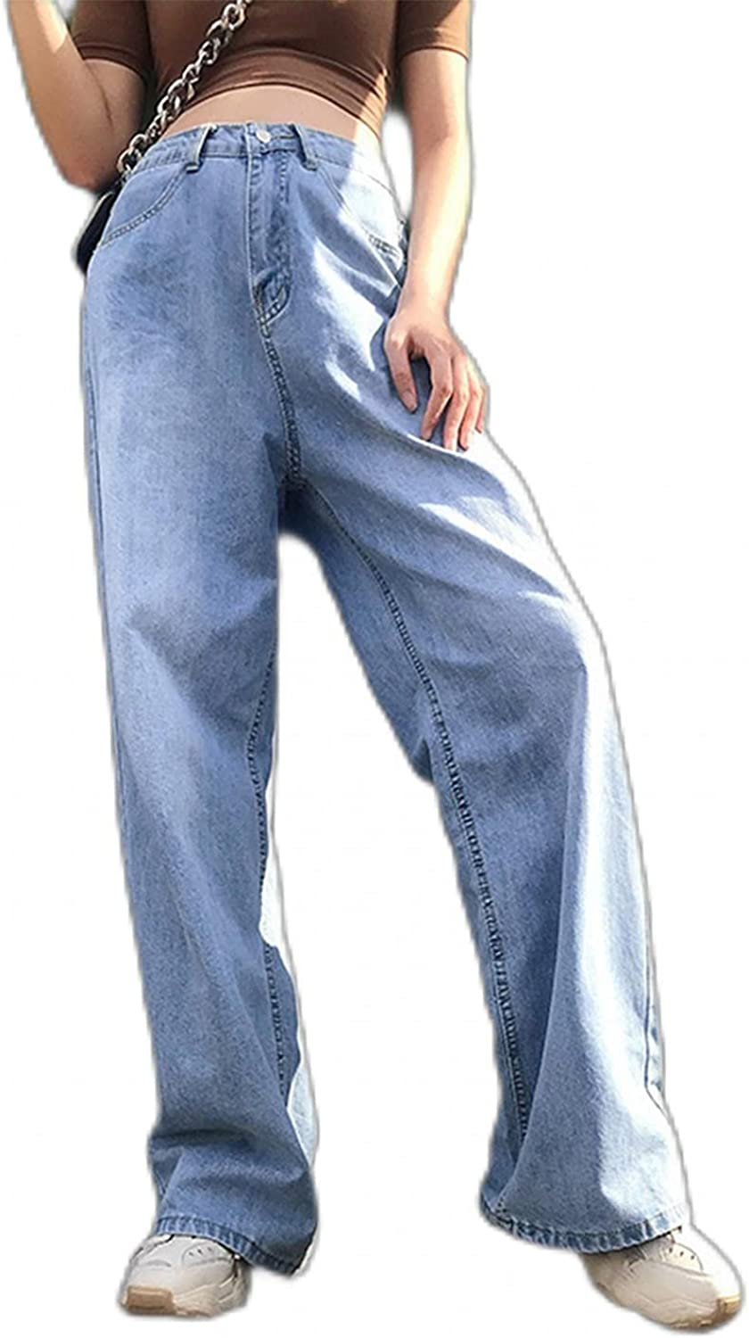 Dunacifa Women's High Waisted Flared Jeans Slim Retro Style Bell Bottom Jean Trousers Flaress Classic Fitted Denim Pants